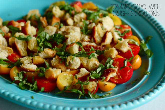 Tomato Salad With Crushed Croutons Recipe — Dishmaps