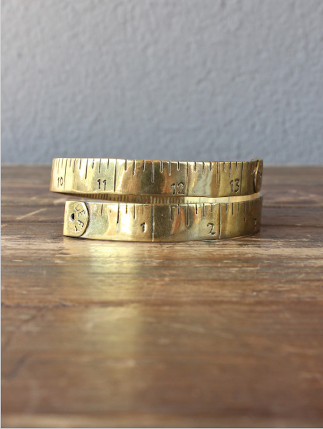 Tape measure bracelet // my SoCal'd life, a guide to all things delicious, adventurous and stylish in Southern California
