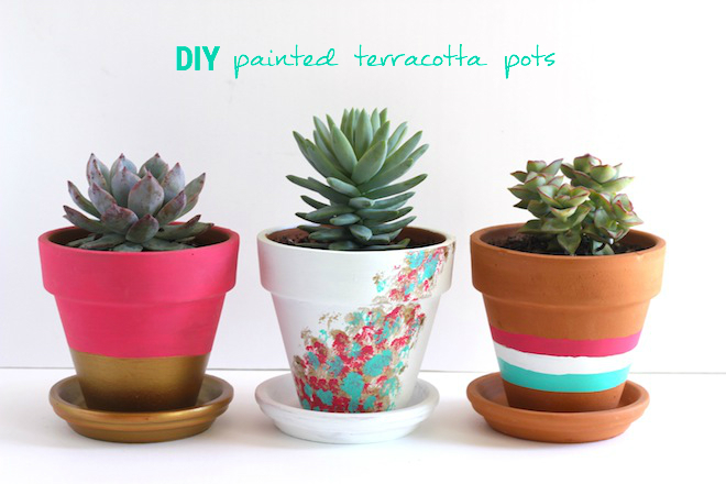DIY painted terracotta pots // My SoCal'd Life, a lifestyle blog