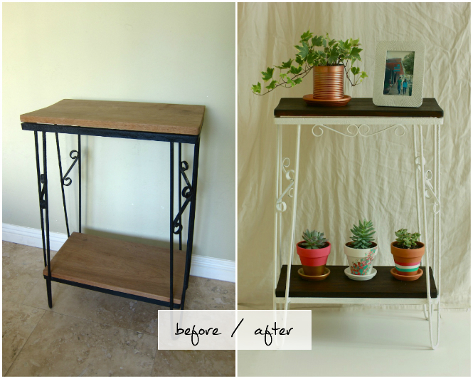 Before and after shelf stand DIY // My SoCal'd Life, a lifestyle blog