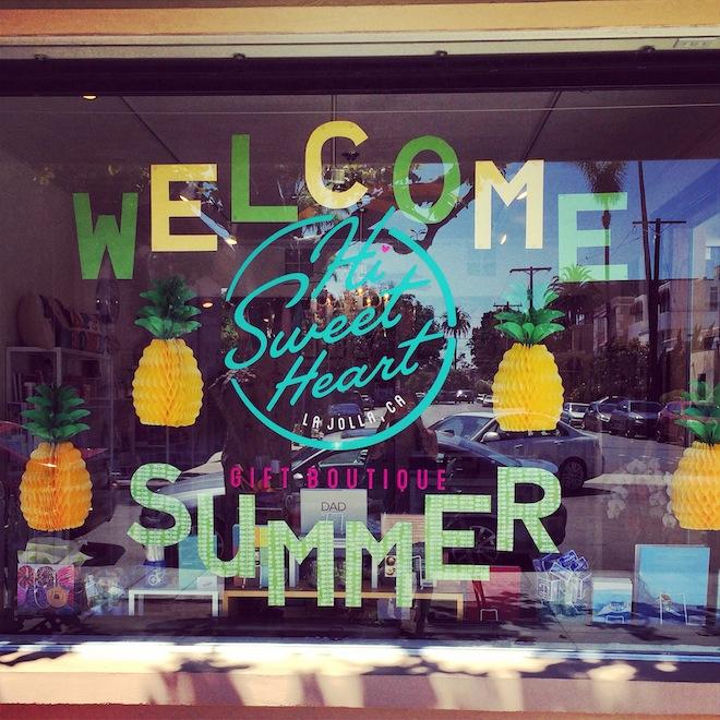 Hi Sweetheart gift shop in La Jolla, San Diego