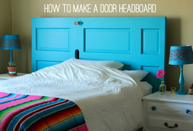 How to make a door headboard via My SoCal'd Life, a lifestyle blog