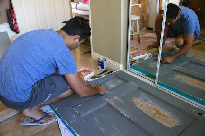 How to make a door headboard via My SoCal'd Life