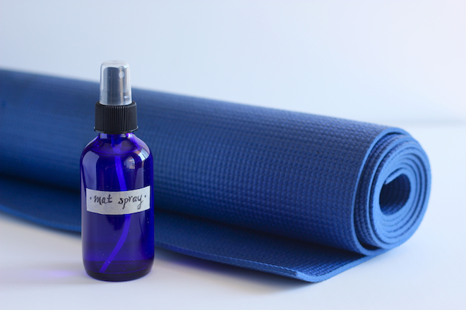 DIY yoga mat spray via My SoCal'd Life
