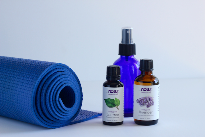 DIY yoga mat spray via My SoCal'd Life