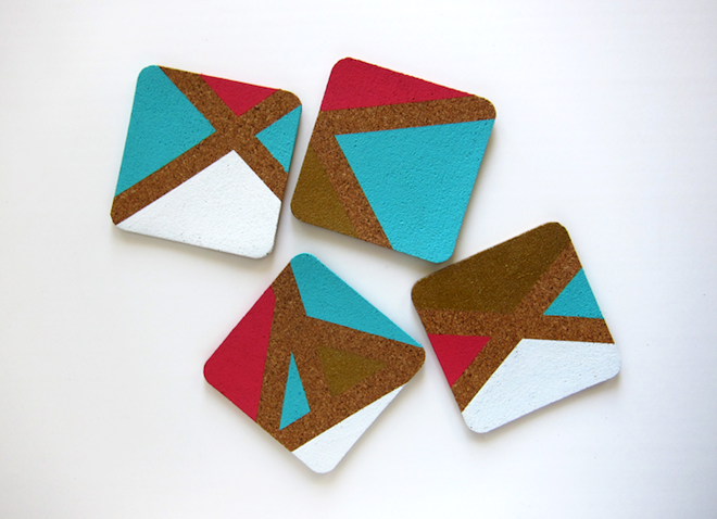 DIY painted coasters via My SoCal'd Life, a lifestyle blog