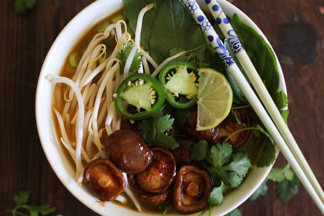 Vegetarian pho // via My SoCal'd Life