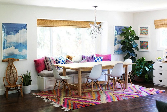 California dining room via Domaine
