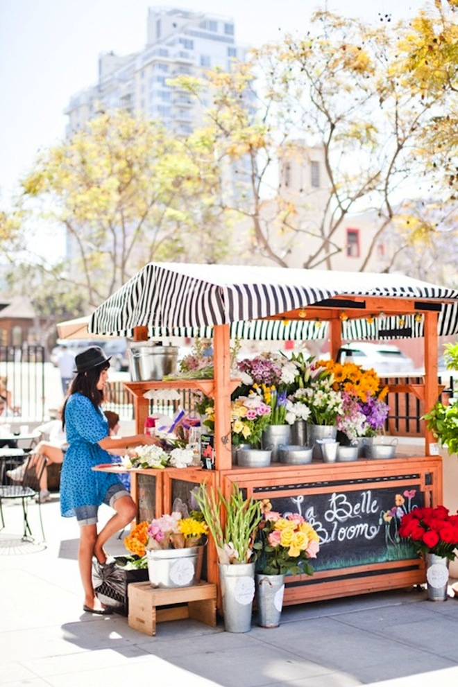 La Belle Bloom flower cart in San Diego // My SoCal'd Life