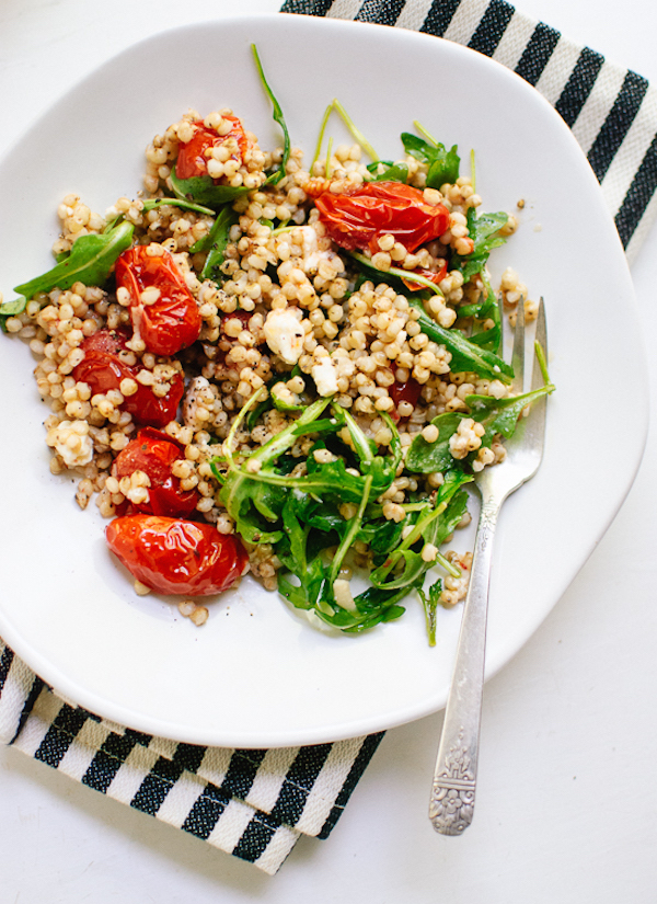 Cherry tomato, arugula, sorghum salad via Cookie + Kate // from 6 vegetarian lunches to-go on My SoCal'd Life