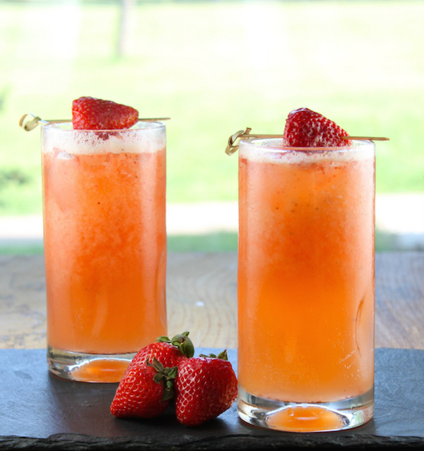 Strawberry Mango Cooler // 5 mocktail ideas via My SoCal'd Life