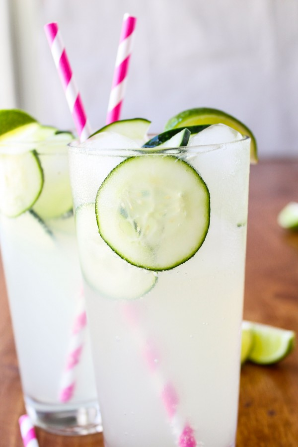 Cucumber lime mocktail // 5 mocktail recipes via My SoCal'd Life