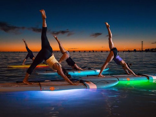 Glow-in-the-dark stand-up paddleboarding // My SoCal'd Life