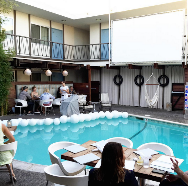 The Pearl Hotel's Dive-In Theater // My SoCal'd Life